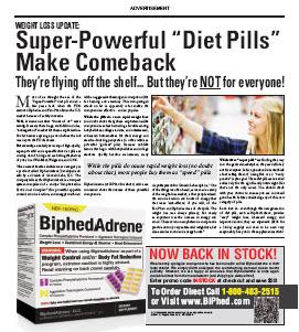"BiphedAdrene Ad ""Super Powerful Diet Pill"""