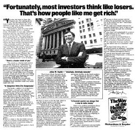 Julian M. Snyder (Investment Ad)
