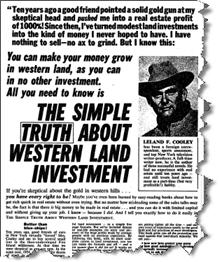 Western Land Investing Ad