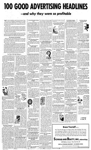 100 Good Advertising Headlines