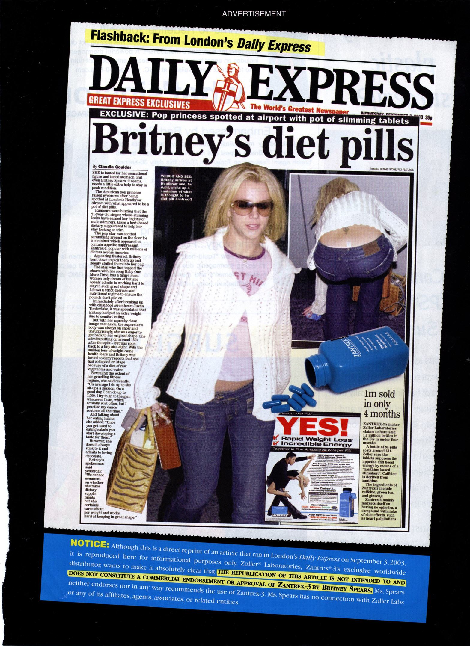 britney spears diet pills