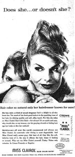 Clairol Ad (by Shirley Polykoff)